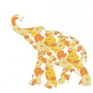 bebe-elephant-fleurs-jaunes-