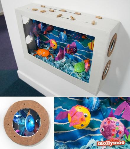 Kids Painted Fish DIY / RECYCLER LE CART...